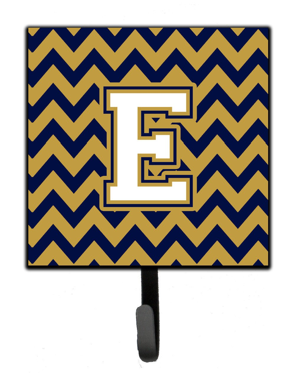 Letter E Chevron Navy Blue and Gold Leash or Key Holder CJ1057-ESH4 by Caroline's Treasures