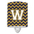 Buy this Letter W Chevron Navy Blue and Gold Ceramic Night Light CJ1057-WCNL