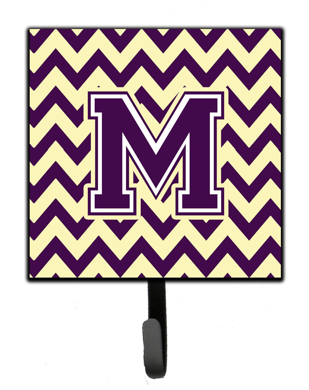 Letter M Chevron Purple and Gold Leash or Key Holder CJ1058-MSH4 by Caroline's Treasures