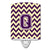 Buy this Letter Q Chevron Purple and Gold Ceramic Night Light CJ1058-QCNL