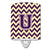 Buy this Letter U Chevron Purple and Gold Ceramic Night Light CJ1058-UCNL