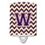 Buy this Letter W Chevron Purple and Gold Ceramic Night Light CJ1058-WCNL