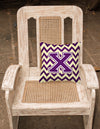 Letter X Chevron Purple and Gold Fabric Decorative Pillow CJ1058-XPW1414 by Caroline's Treasures