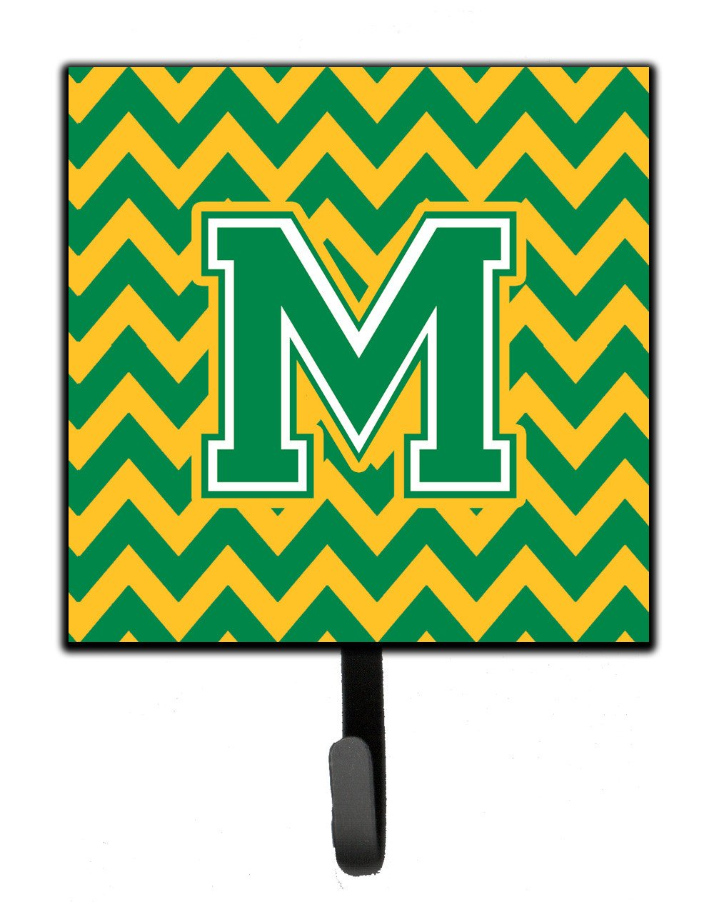 Letter M Chevron Green and Gold Leash or Key Holder CJ1059-MSH4 by Caroline's Treasures
