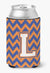 Letter L Chevron Blue and Orange #3 Can or Bottle Hugger CJ1060-LCC by Caroline's Treasures