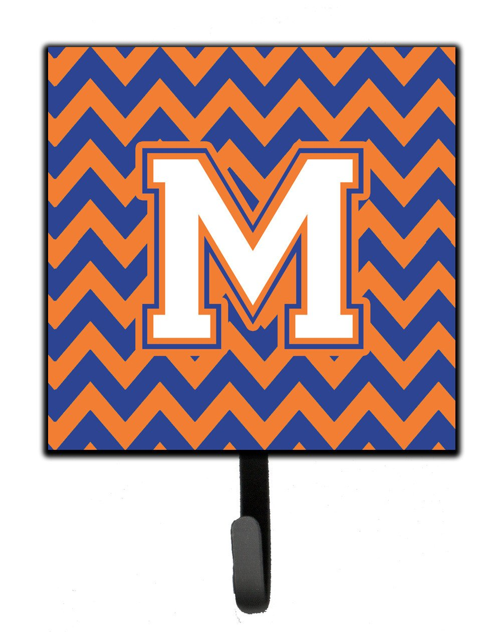 Letter M Chevron Blue and Orange #3 Leash or Key Holder CJ1060-MSH4 by Caroline's Treasures