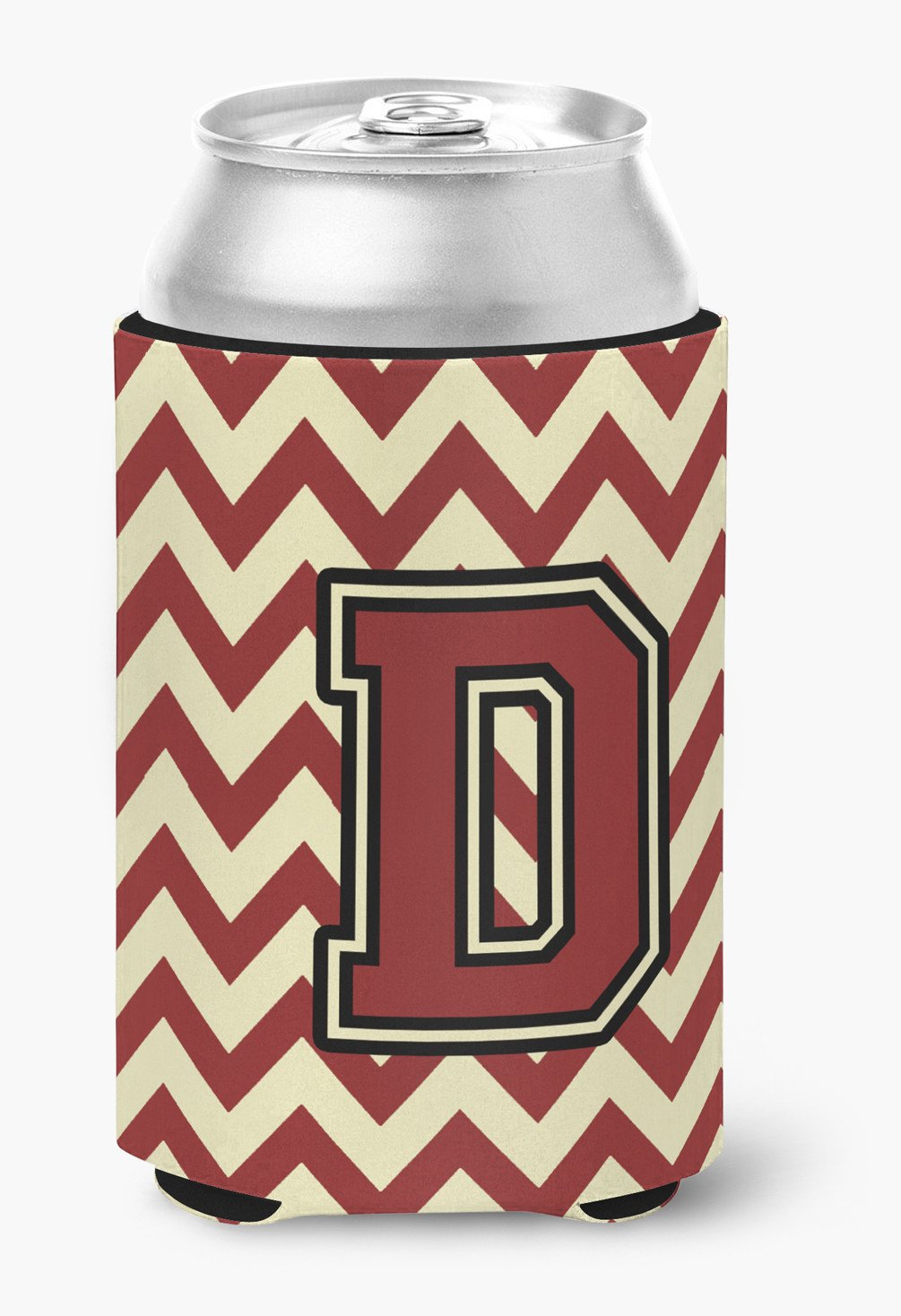 Buy this Letter D Chevron Maroon and Gold Can or Bottle Hugger CJ1061-DCC