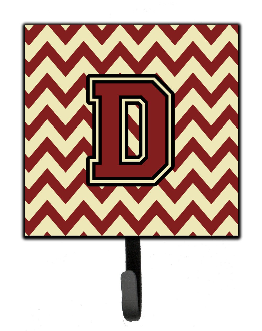 Buy this Letter D Chevron Maroon and Gold Leash or Key Holder CJ1061-DSH4