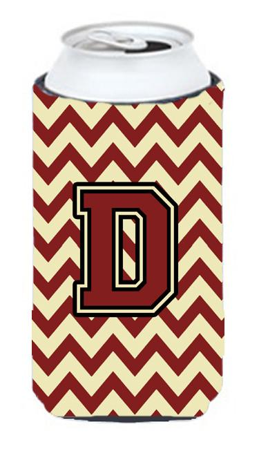 Buy this Letter D Chevron Maroon and Gold Tall Boy Beverage Insulator Hugger CJ1061-DTBC