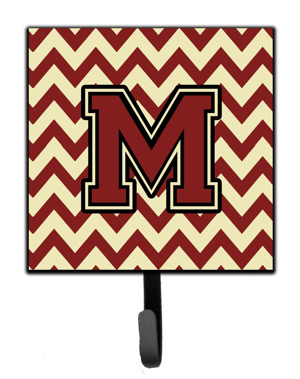 Letter M Chevron Maroon and Gold Leash or Key Holder CJ1061-MSH4 by Caroline's Treasures