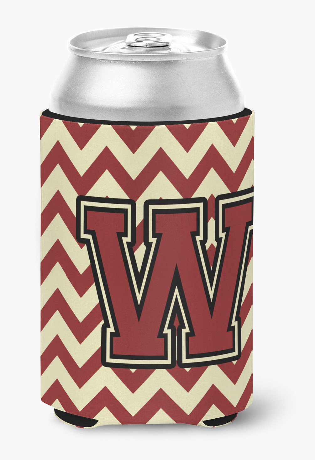 Buy this Letter W Chevron Maroon and Gold Can or Bottle Hugger CJ1061-WCC
