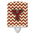 Buy this Letter Y Chevron Maroon and Gold Ceramic Night Light CJ1061-YCNL