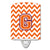 Buy this Letter G Chevron Orange and Regalia Ceramic Night Light CJ1062-GCNL