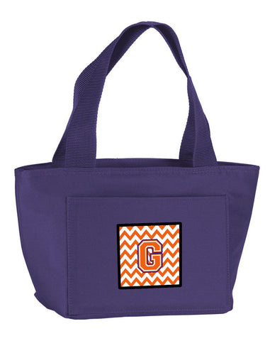 Buy this Letter G Chevron Orange and Regalia Lunch Bag CJ1062-GPR-8808