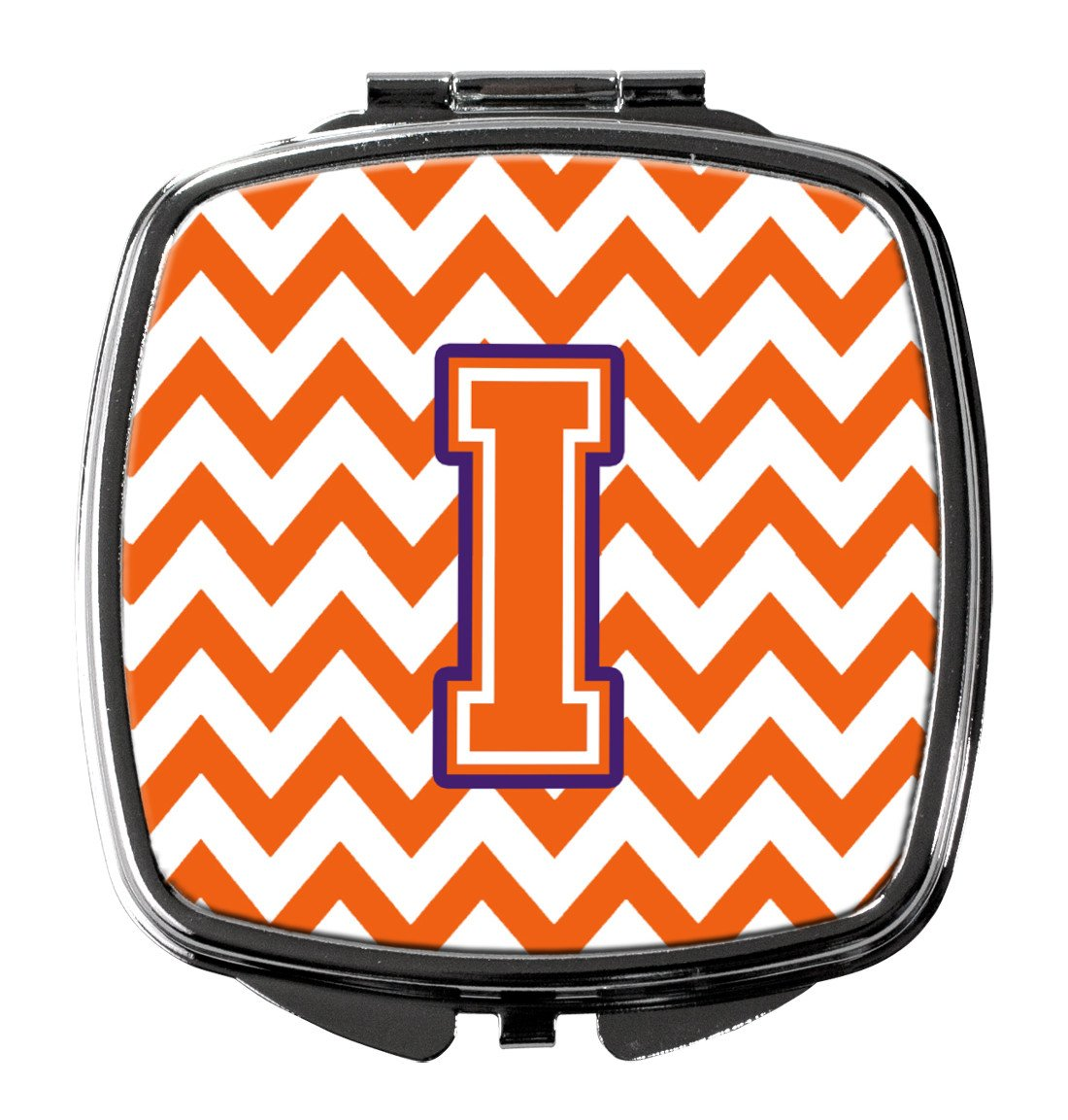 Letter I Chevron Orange and Regalia Compact Mirror CJ1062-ISCM by Caroline's Treasures
