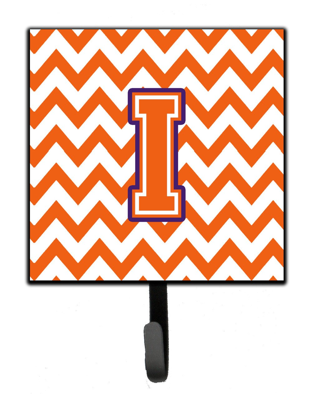 Letter I Chevron Orange and Regalia Leash or Key Holder CJ1062-ISH4 by Caroline's Treasures