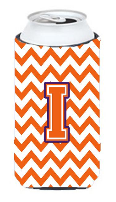 Letter I Chevron Orange and Regalia Tall Boy Beverage Insulator Hugger CJ1062-ITBC by Caroline's Treasures