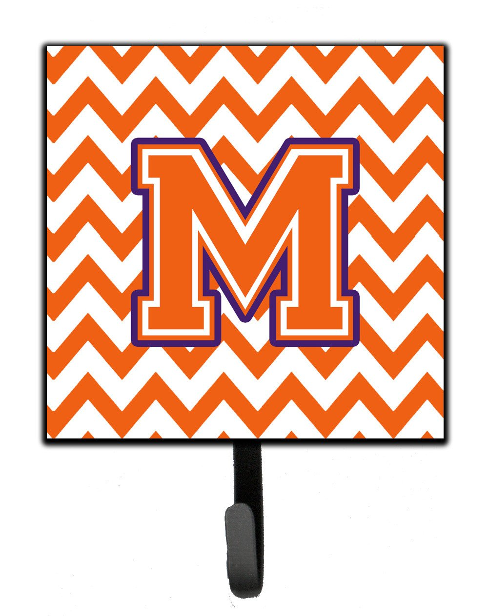 Letter M Chevron Orange and Regalia Leash or Key Holder CJ1062-MSH4 by Caroline's Treasures