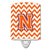 Buy this Letter N Chevron Orange and Regalia Ceramic Night Light CJ1062-NCNL