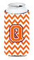 Buy this Letter Q Chevron Orange and Regalia Tall Boy Beverage Insulator Hugger CJ1062-QTBC