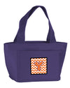 Letter Y Chevron Orange and Regalia Lunch Bag CJ1062-YPR-8808 by Caroline's Treasures