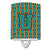 Buy this Letter U Football Aqua, Orange and Marine Blue Ceramic Night Light CJ1063-UCNL