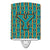 Buy this Letter Y Football Aqua, Orange and Marine Blue Ceramic Night Light CJ1063-YCNL