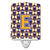 Buy this Letter E Football Purple and Gold Ceramic Night Light CJ1064-ECNL