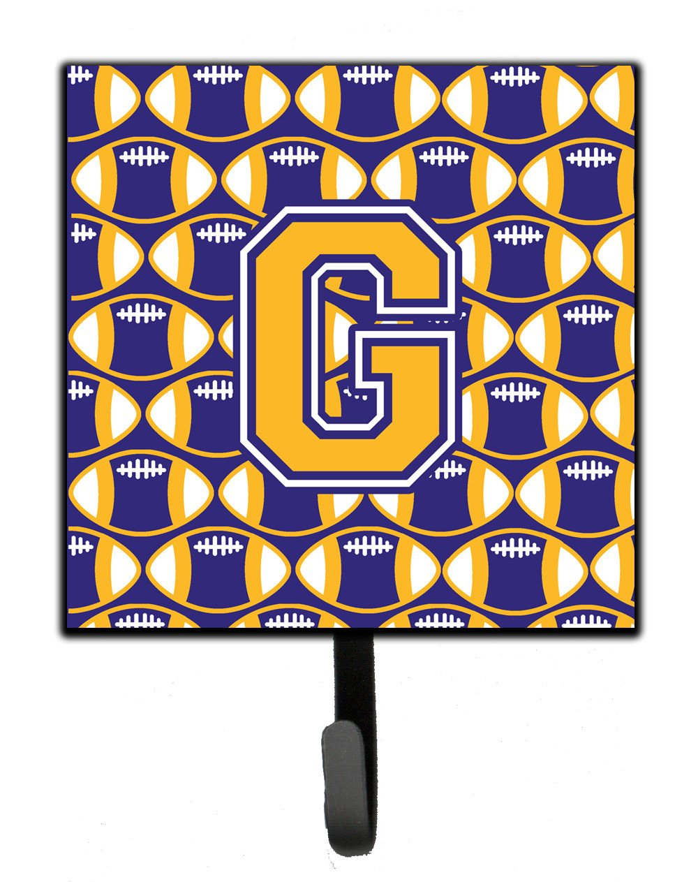Letter G Football Purple and Gold Leash or Key Holder CJ1064-GSH4 by Caroline's Treasures