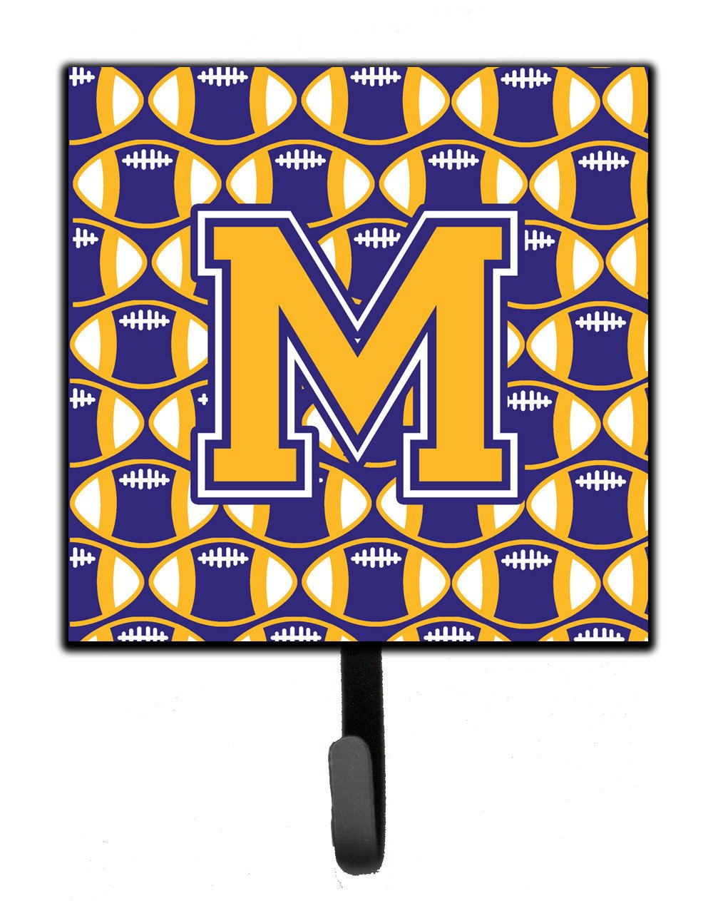 Letter M Football Purple and Gold Leash or Key Holder CJ1064-MSH4 by Caroline's Treasures