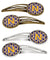 Buy this Letter N Football Purple and Gold Set of 4 Barrettes Hair Clips CJ1064-NHCS4
