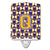 Buy this Letter Q Football Purple and Gold Ceramic Night Light CJ1064-QCNL