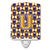 Buy this Letter U Football Purple and Gold Ceramic Night Light CJ1064-UCNL