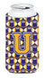 Buy this Letter U Football Purple and Gold Tall Boy Beverage Insulator Hugger CJ1064-UTBC