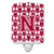 Buy this Letter N Football Crimson, grey and white Ceramic Night Light CJ1065-NCNL