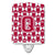 Buy this Letter Q Football Crimson, grey and white Ceramic Night Light CJ1065-QCNL