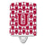 Buy this Letter U Football Crimson, grey and white Ceramic Night Light CJ1065-UCNL