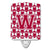 Buy this Letter W Football Crimson, grey and white Ceramic Night Light CJ1065-WCNL
