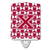 Buy this Letter X Football Crimson, grey and white Ceramic Night Light CJ1065-XCNL
