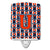 Buy this Letter U Football Orange, Blue and white Ceramic Night Light CJ1066-UCNL