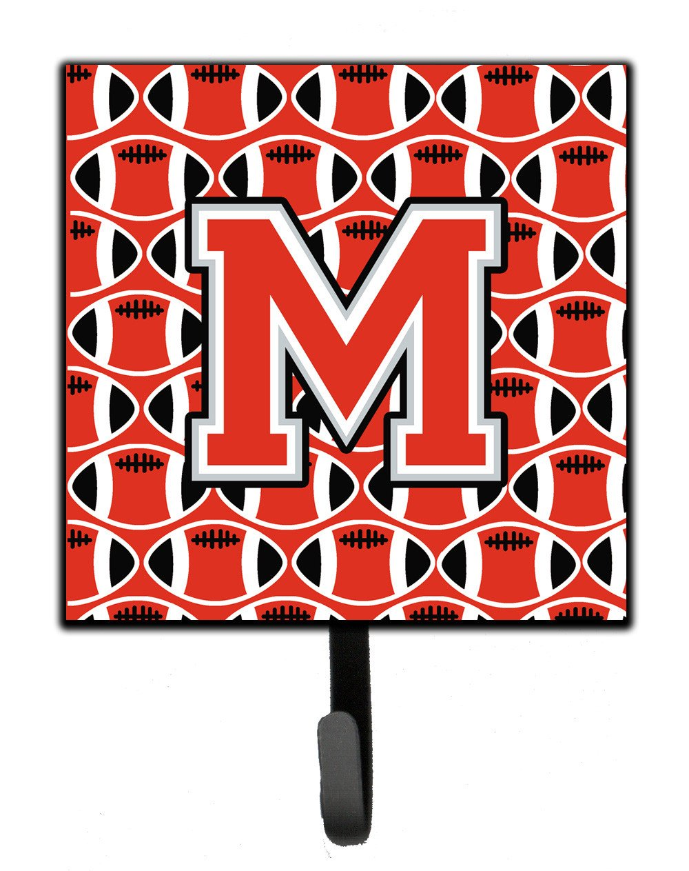 Letter M Football Scarlet and Grey Leash or Key Holder CJ1067-MSH4 by Caroline's Treasures