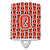 Buy this Letter Q Football Scarlet and Grey Ceramic Night Light CJ1067-QCNL