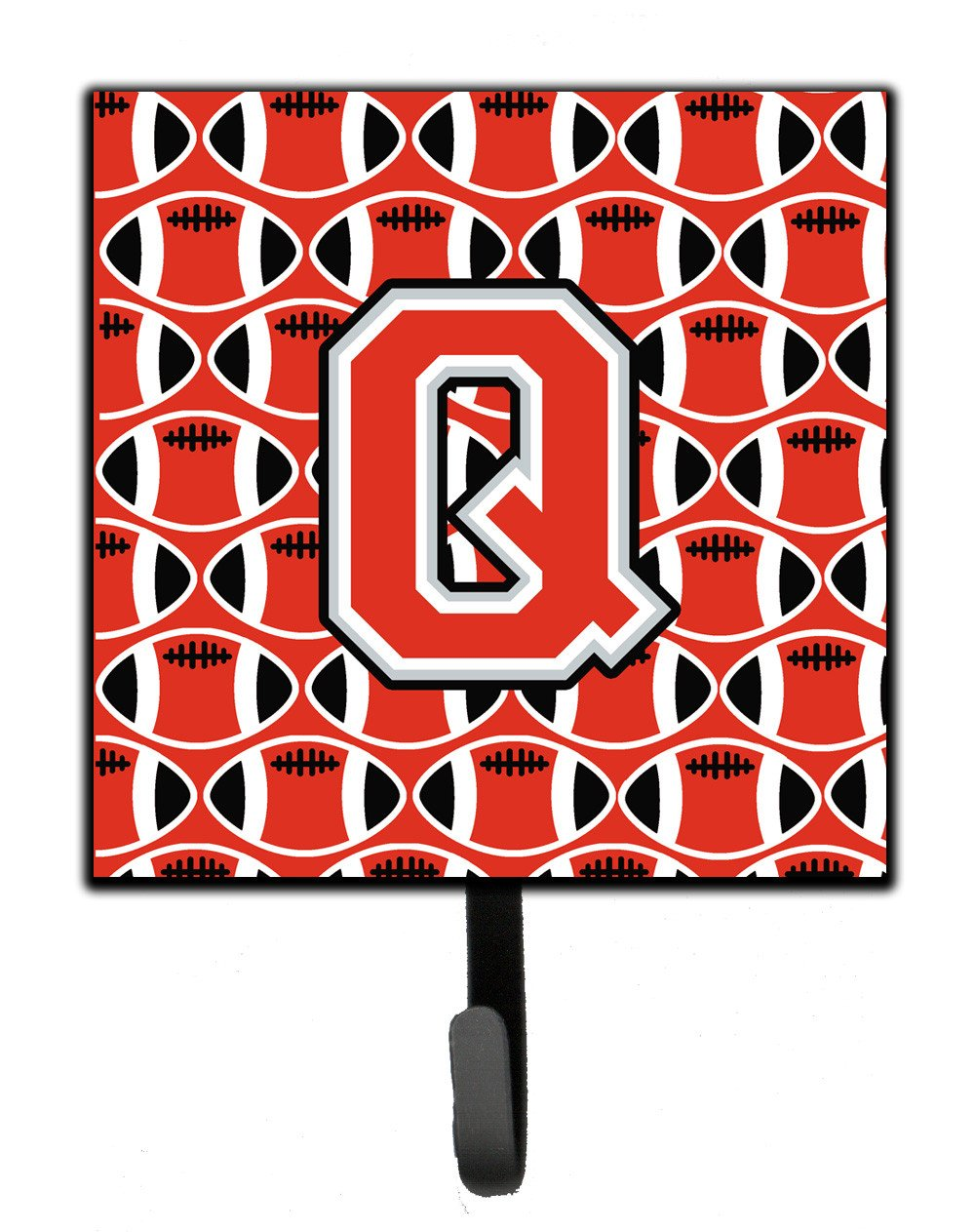Letter Q Football Scarlet and Grey Leash or Key Holder CJ1067-QSH4 by Caroline's Treasures