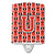 Buy this Letter U Football Scarlet and Grey Ceramic Night Light CJ1067-UCNL