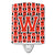 Buy this Letter W Football Scarlet and Grey Ceramic Night Light CJ1067-WCNL
