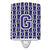 Buy this Letter G Football Purple and White Ceramic Night Light CJ1068-GCNL
