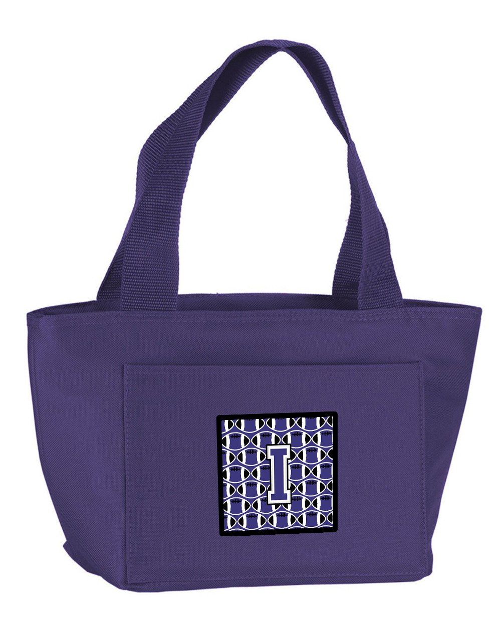 Letter I Football Purple and White Lunch Bag CJ1068-IPR-8808 by Caroline's Treasures
