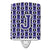 Buy this Letter J Football Purple and White Ceramic Night Light CJ1068-JCNL