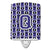 Buy this Letter Q Football Purple and White Ceramic Night Light CJ1068-QCNL
