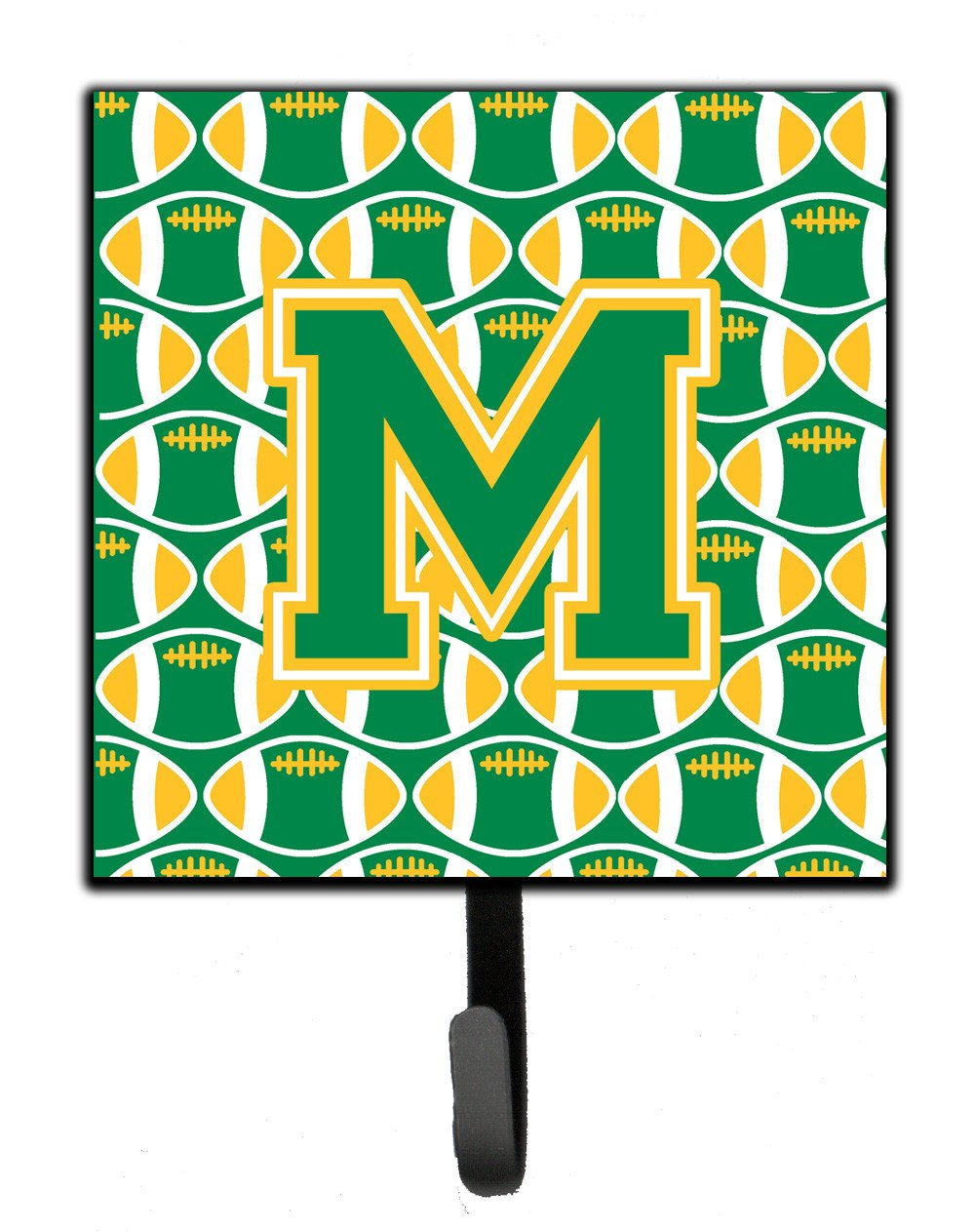 Letter M Football Green and Gold Leash or Key Holder CJ1069-MSH4 by Caroline's Treasures
